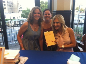 I actually had the awesome opportunity to meet Emily Giffin with one of my best friends. (And yes, my eyes are definitely 89% closed, but I don't care!)