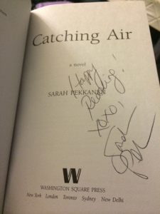 You could win a FREE signed copy of Catching Air!