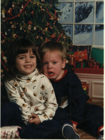 This would be me and my little brother circa 20 years ago. Clearly you can see I'm all hunky dory while he's having a meltdown. Not much has changed.