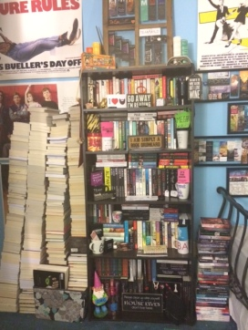 I feel like it's only fitting to end with a picture of what my actual never ending book basket looks like.
